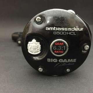 Abu Garcia Big Game Ambassadeur 6500 HCL Sweden Round Reel