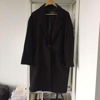Black oversized thin fall jacket