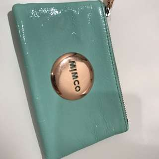 'Mimco' Tiffany Green & Rose Gold Coin Purse