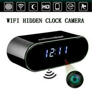 Digital Clock Spy camera with wi-fi network connection to mobile phone Apps