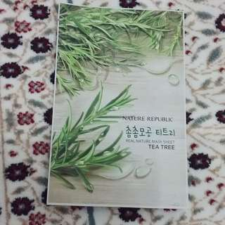 Real Nature Mask Sheet Tea Tree