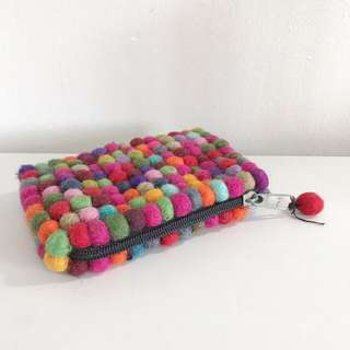 Furry Ball Pouch Wallet