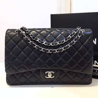 Authentic Chanel Classic Maxi Lamb