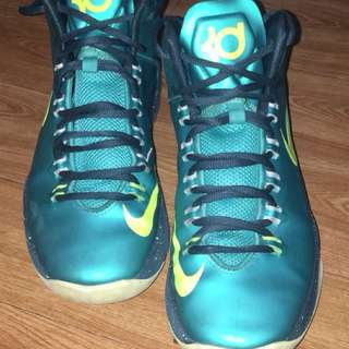 KD V (GS) Boys Basketball Shoes Atomic Teal (Original)