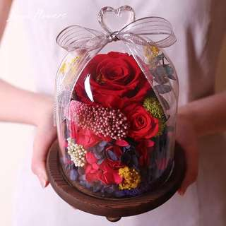 BN - High quality preserved fresh flower. Red rose. With gift box