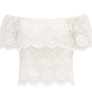 Forever New Off Shoulder Crochet Top