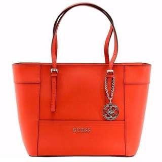 Instock GUESS Big Tote Bag (Orange/Black)