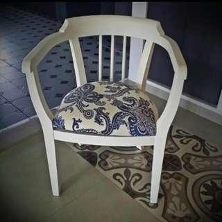 White vintage armchair