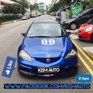 Legendary Honda integra 2.0A DC5 for car rental only at Kem Auto