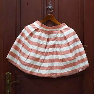 Stripes Skirt Dusty Pink