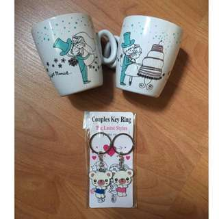Free Mail!! All items - CoupleCups, LoveBirds Salt&Pepper, Keychain