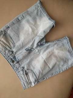 1 Pair Denim / 1 Pair Maroon Chino Shorts