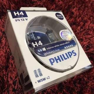 H4 white light bulb (LTA Approved)