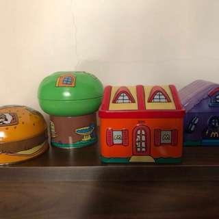 McDonald's 鐵盒 4個冇紙盒