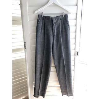 VINTAGE 80s grey tailored high waisted trousers pants