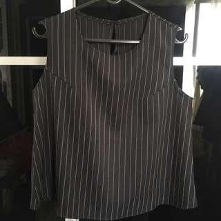 Korean Design Stripe Top