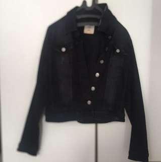 Stradivarius Black Denim Jacket