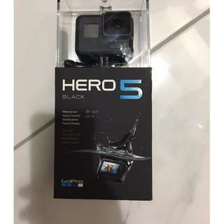 GoPro Hero 5 with 64gb Memory Card.