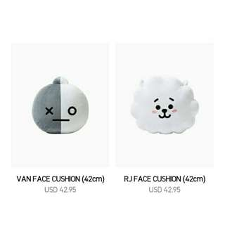[NON PROFIT] BTS BT21 Cushion 42 CM