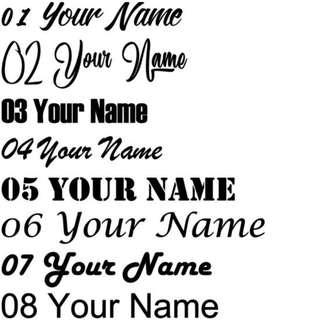Custom Name Decal