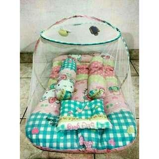 Tempat tidur  bayi + klambu