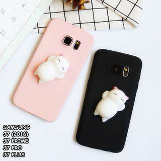 FOR SAMSUNG - SQUISHY LAZY CAT SOFT CASE CASING