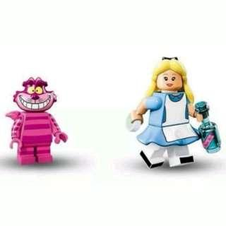 Lego Disney Minifigures Cheshire Cat & Alice in Wonderland