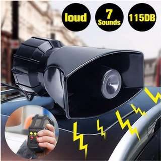 PROMO..... 115dB,12V,100 watts,7 Sounds Alarm Speaker Loud Air Horn Siren For Car Auto Motor Boat Van Truck PA System