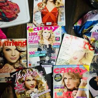 Taylor Swift bundled magazines for 550PHP all!