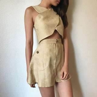 2-Piece Beige Outfit