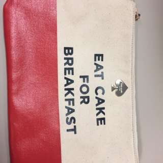 Authentic Kate Spade canvas clutch
