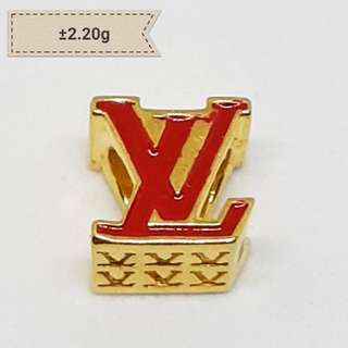916 Gold LV Inspired Pandora Compatible Charm