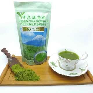 Teh 63 ( teh hijau bubuk)