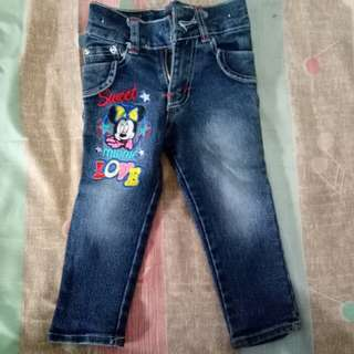 Celana Jeans Anak Bordir