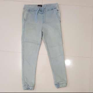 High cultured jogger jeans