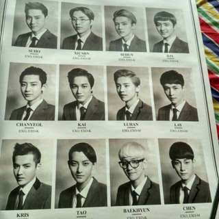 Exo XOXO KOR. VERSION + 2 OFFICIAL POSTER