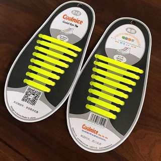 Neon yellow Silicon Laces