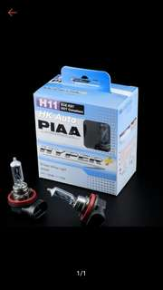 PIAA GENUINE BRILLIANT WHITE HYPER PLUS HALOGEN LIGHT BULB H11 4000k 110w