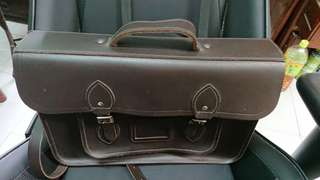 Cambridge satchel dark brown leather bag