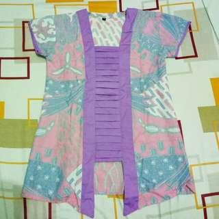pink purple batik kimono