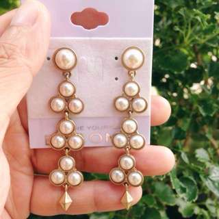 B.Iconic Faux Pearl Dangling Earrings from USA