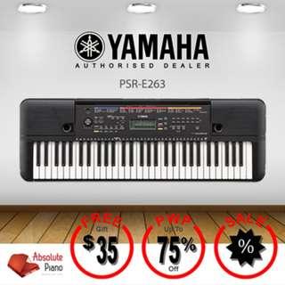 YAMAHA Portable Keyboard: PSR-E263