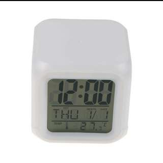 LED 7color glowing change digital glowing alarm