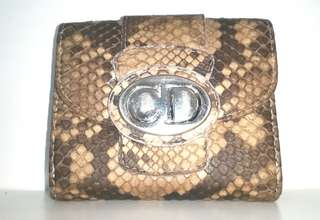 Authentic Christian Dior Real Python Bi-fold Wallet