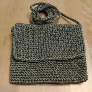 🚚 尼龍編織斜背小包