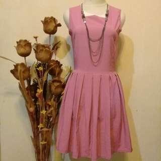 Dress pink soft cute 😍