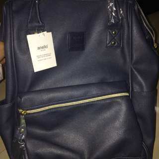 Anello Leather Bagpack ORI NWT (navy)