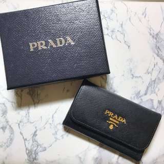AUTHENTIC Prada Saffiano Keyholder - Black