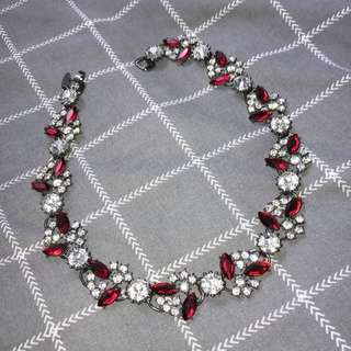 lovisa ruby red diamond necklace