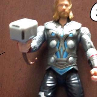 Thor action figure with sounds and movable arms